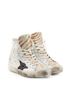 Golden Goose | Francy Leather And Haircalf High-Top Sneakers Gr. Eu 40