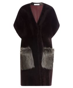 INÈS & MARÉCHAL | Shearling Coat With Raccoon Fur Gr. Fr 36