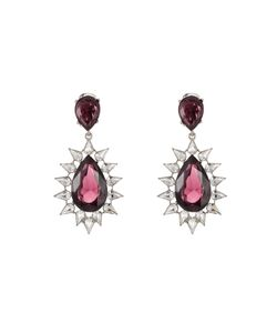 Kenneth Jay Lane   Faceted Earrings With Crystals Gr. One