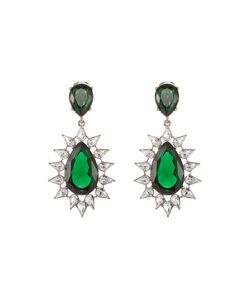 Kenneth Jay Lane | Faceted Earrings With Crystals Gr. One