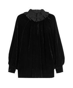 Fendi   Velvet Top With Ruffled Collar Gr. It 42