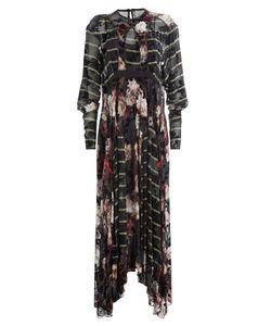 Preen | Printed Silk Dress With Velvet Gr. S
