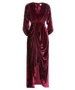 Preen | Draped Velvet Dress Gr. S