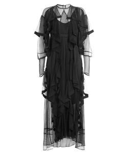 Preen | Dress With Sheer Inserts And Tiers Gr. M
