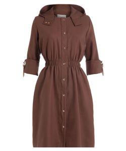 Marina Hoermanseder   Silk Coat With Hood And Leather Details Gr. De 34