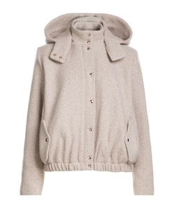 Marina Hoermanseder | Wool Hooded Bomber Jacket Gr. De 38