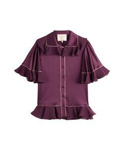 Roksanda Ilincic | Silk Blouse With Ruffle Trim Gr. Uk 8