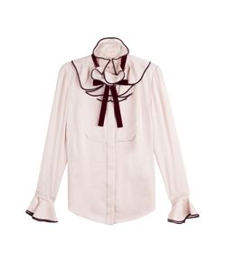 Roksanda Ilincic | Silk Blouse With Ruffles Gr. Uk 12