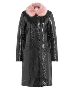 SHRIMPS | Hokus Patent Coat With Faux Fur Collar Gr. Us 8