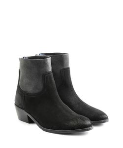 Zadig & Voltaire   Two-Tone Suede Ankle Boots Gr. Eu 41