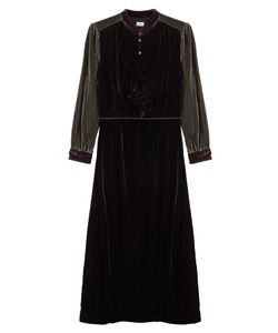 Warm | Velvet Dress With Silk Gr. 0