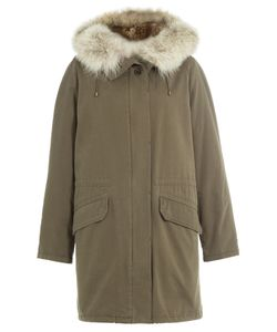 Yves Salomon | Cotton Parka With Fur Trimmed Hood Gr. Fr 36