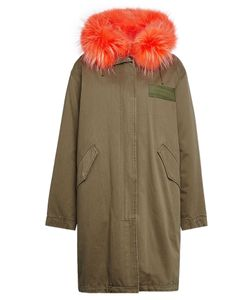 Yves Salomon | Cotton Parka With Fur Collar Gr. Fr 36
