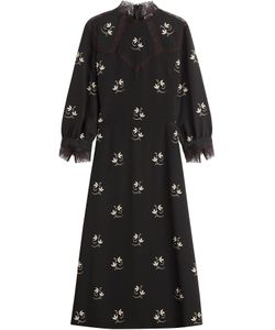 VILSHENKO | Printed Midi Dress With Lace Gr. Uk 8