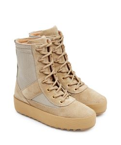 YEEZY | Suede Boots With Mesh Gr. Eu 39