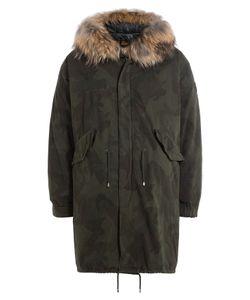 BARBED | Printed Cotton Parka With Fur-Trimmed Hood Gr. L