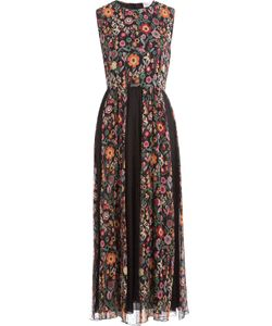 Red Valentino | Crepe Print Mid-Length Dress Gr. It 38