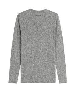 Zadig & Voltaire   Toki Chine Cotton Blend Top Gr. L