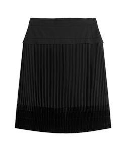 Carven | Pleated Skirt With Velvet Gr. Fr 40