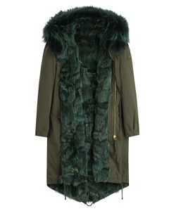 BARBED | Cotton Parka With Fox Fur Lining Gr. L