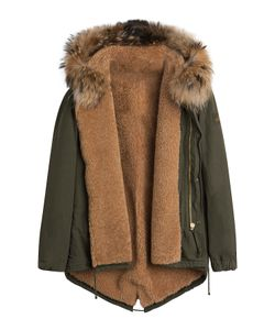 BARBED | Cotton Parka Jacket With Raccoon Fur Lining Gr. M