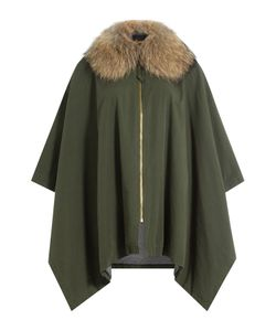 BARBED | Cotton Cape With Raccoon Fur Gr. One