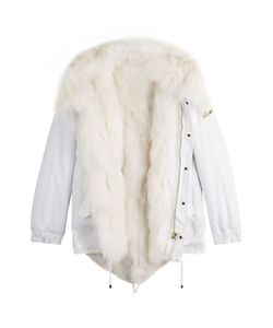 BARBED | Cotton Parka Jacket With Fox Fur Gr. S