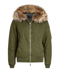 BARBED | Cotton Bomber Jacket With Fur-Trimmed Hood Gr. Xs