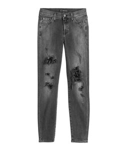 7 for all mankind | Distressed Skinny Jeans Gr. 25