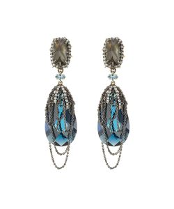 Alexis Bittar | Draped Chain And Crystal Earrings Gr. One