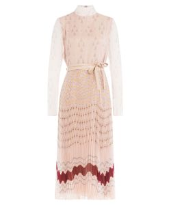Valentino | Pleated Silk Printed Dress Gr. It 42