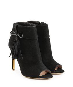 Rupert Sanderson | Tinsel Suede Open Toe Ankle Boots Gr. Eu 37.5