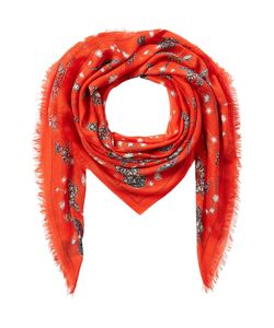 Alexander McQueen | Jeweled Print Scarf With Silk Gr. One