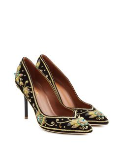 MALONE SOULIERS | Embellished And Embroidered Velvet Pumps Gr. Eu 39.5