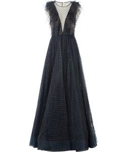 Jenny Packham | Floor Length Gown With Sequinned Tulle Gr. Uk 8