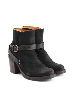 Fiorentini+Baker | Suede And Leather Buckle Strap Ankle Boots Gr. It 39