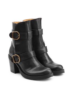 Fiorentini+Baker | Leather Ankle Boots With Buckled Straps Gr. It 39