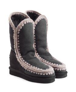 Mou | Eskimo Wedge Tall Sheepskin Boots Gr. Eu 38