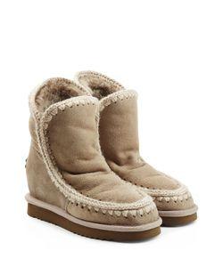 Mou | Eskimo Wedge Short Sheepskin Boots Gr. It 38