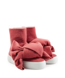 Joshua Sanders   Felted Wool Platform Boots With Bows Gr. Eu 36