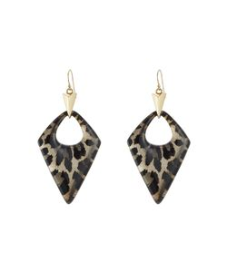 Alexis Bittar | Animal Print Lucite Earrings Gr. One