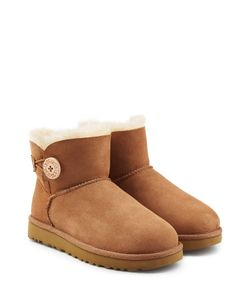 UGG Australia | Shearling Lined Suede Boots With Button Gr. Us 11