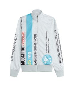 Moschino | Printed Zip Front Sweatshirt Gr. M