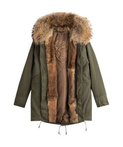 As65 | Parka Jacket With Fur Lining Gr. Xs