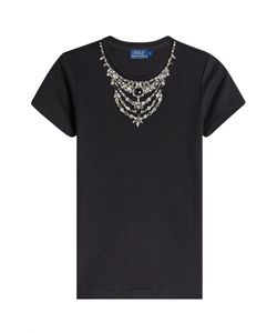 Polo Ralph Lauren | Embellished Cotton T-Shirt Gr. M