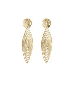 GAS BIJOUX | 24kt Plated Longwave Earrings Gr. One