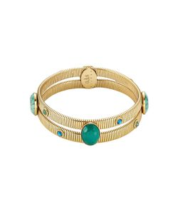 GAS BIJOUX | 24kt Plated Bangle With Glass Cabochons Gr. One