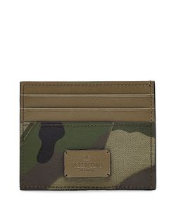Valentino | Camouflage Card Holder With Leather Gr. One
