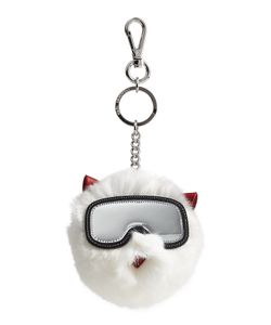 Karl Lagerfeld | Rabbit Fur Keychain Gr. One