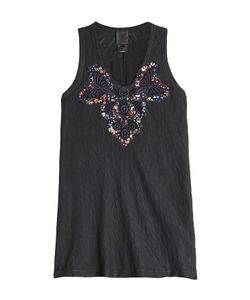Anna Sui | Embroidered Cotton Tank Gr. Xs/S